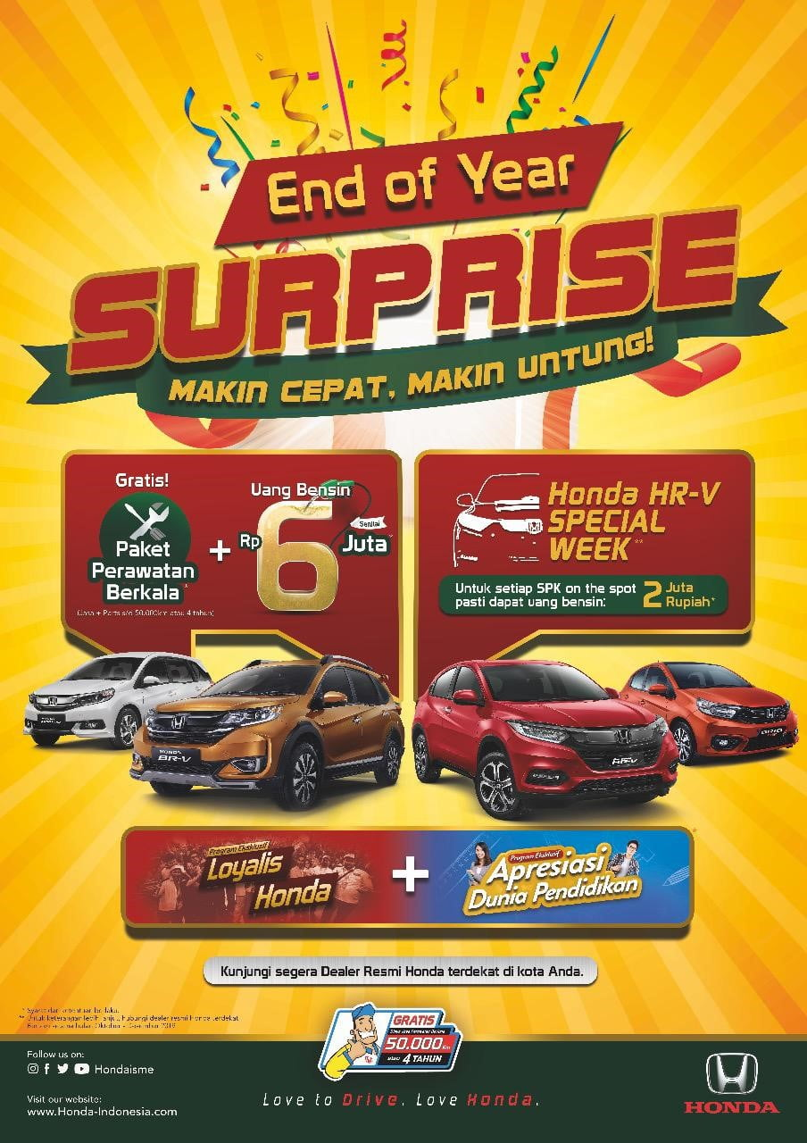 Promo Honda End Of Years 2019