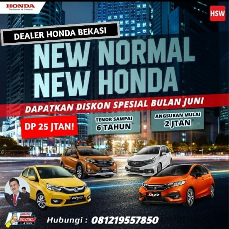 Promo Mobil Honda New Normal 2020